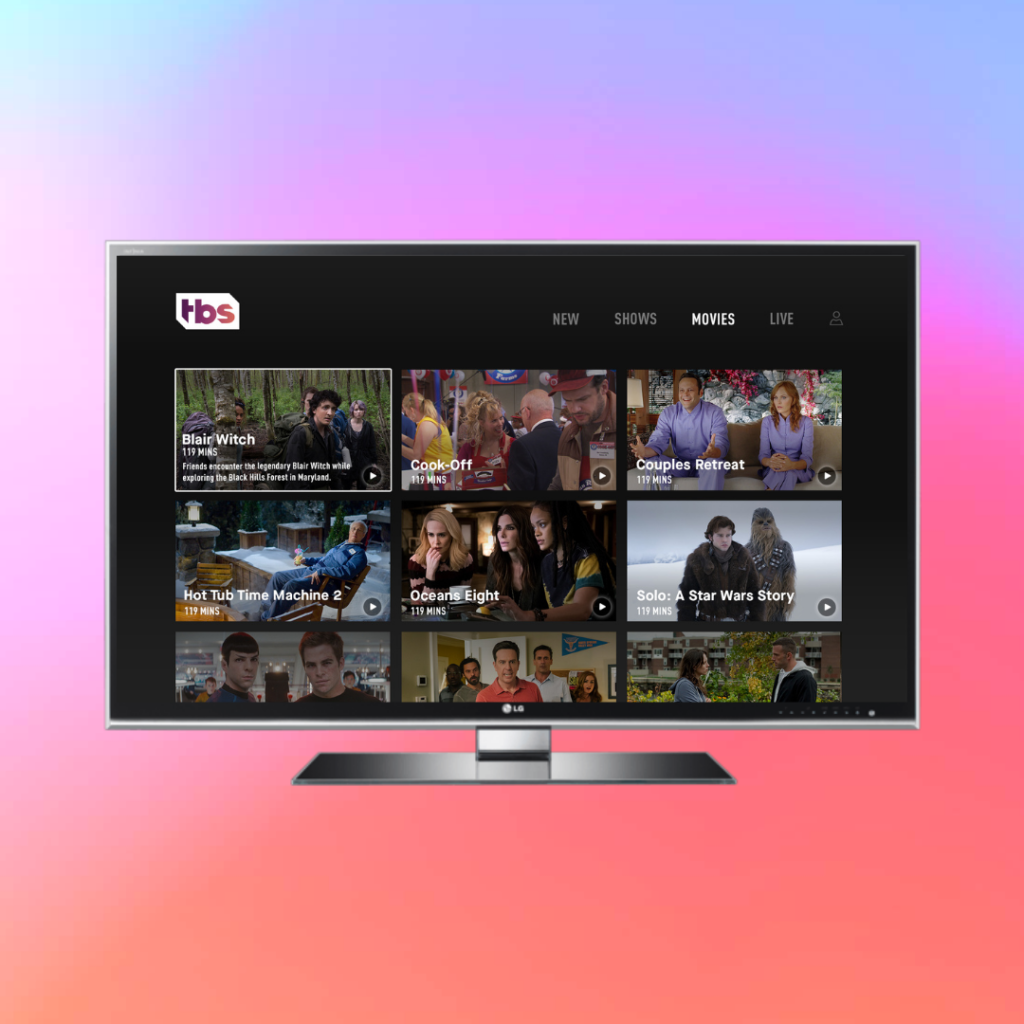TBS Connected TV Interface
